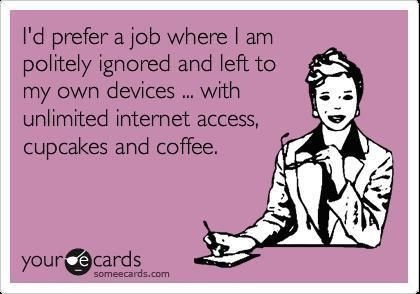Dream job minus the coffee :-)