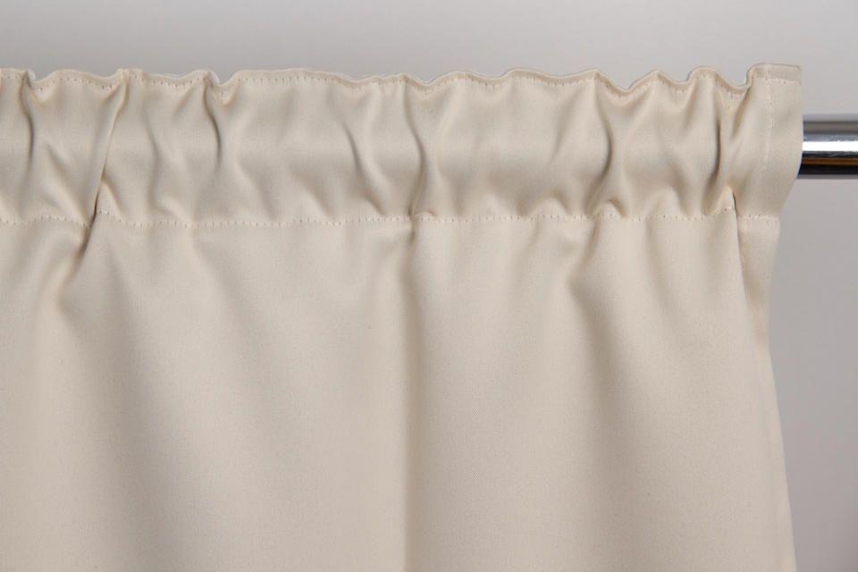 Beige Soundproof Curtain Cotton Effect Eggshell Mc634 Room