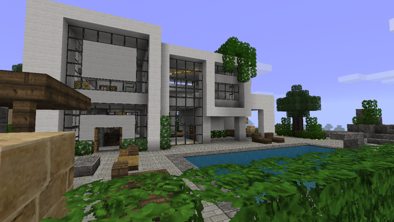minecraft modernes haus ideen Flows 1.6.2 HD exture Pack for Minecraft 1.6.2/1.6.1 - http://www ...