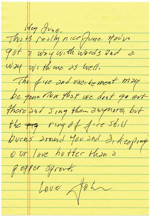 A Love Letter From Johnny Cash To His Wife  Johnny Cash Dear God