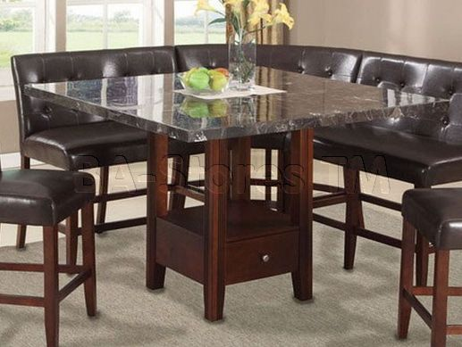 Acme Furniture Danville Black Faux Marble Top Counter Height Table | Bar Pub Tables u0026 Sets AF-01280/3 & Acme Furniture Danville Black Faux Marble Top Counter Height Table ...
