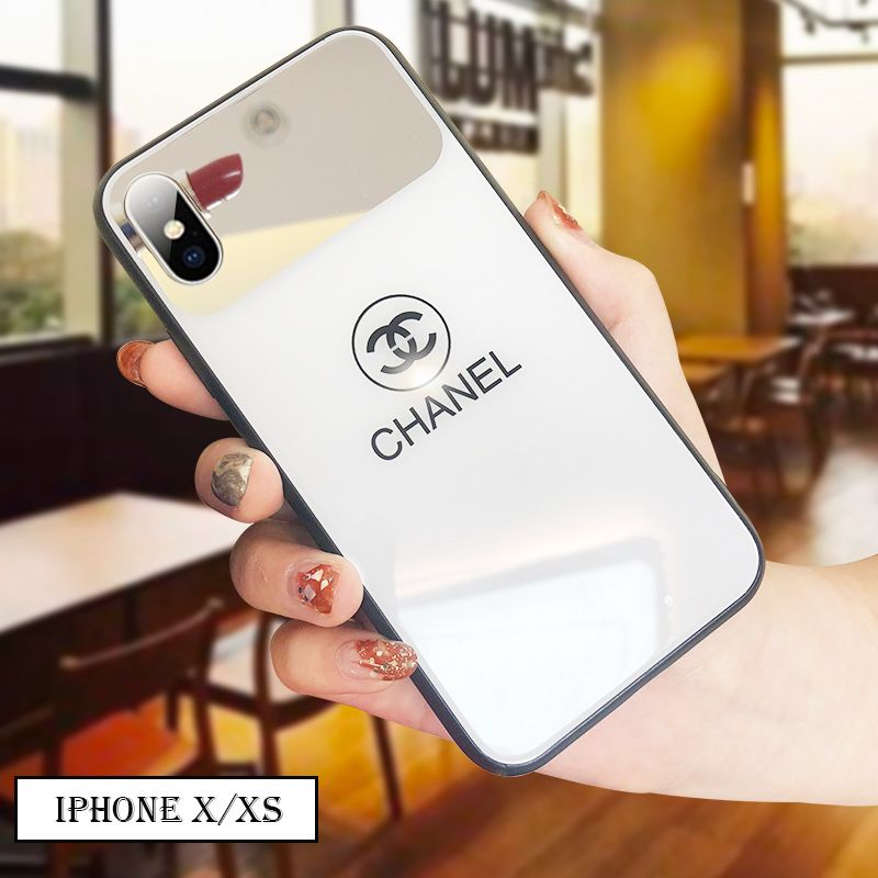 $26.55 Unique Chanel Glass Mirror Surface Cover For iPhone XS Max ...