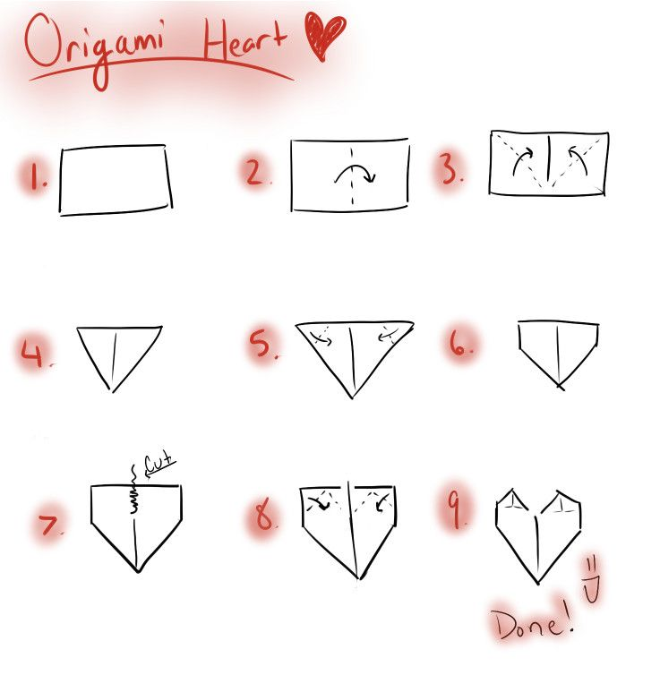 Origami Has Helped Me Be Creative Because Something So Simple As A Piece Of Paper Can Be Turned Into Anything This Origami Heart How To Make Origami Origami