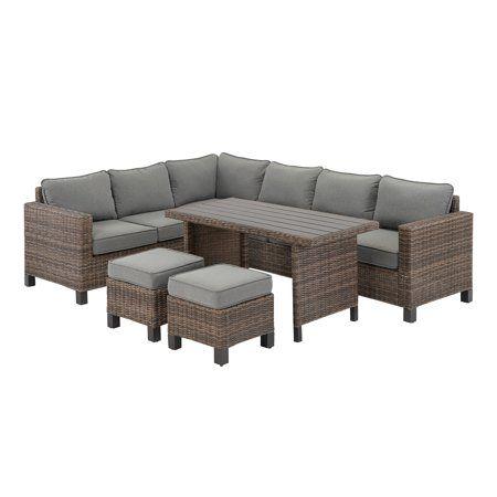 Patio Garden In 2020 Sectional Patio Furniture Wicker 400 x 300