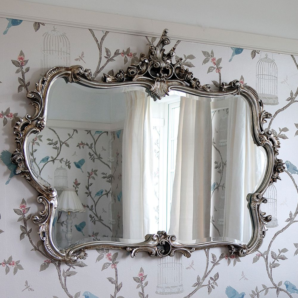 Miss Lala S Silver Looking Glass Small Wall Mirrors