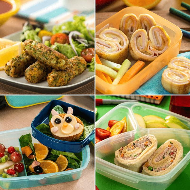 4 Lunchs Para Ninos Comidas Rapidas Para Ninos Comida Creativa Para Ninos Cenas Saludables Para Ninos