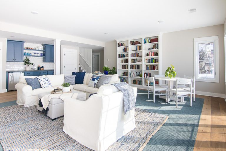Photo of Lake House Basement Family Room – The Lilypad Cottage