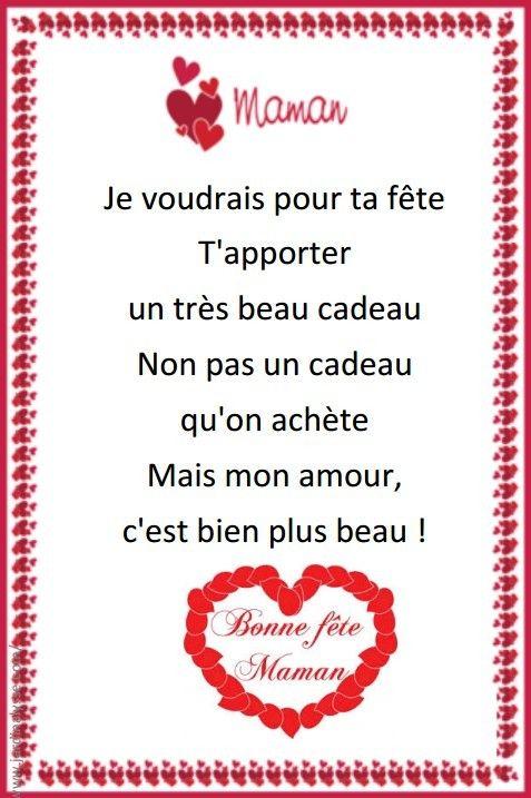 Idée Cadeau Fête Des Mères Carte Ou Poème