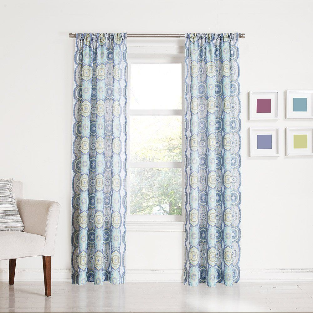 918 Callie Medallion Print Rod Pocket Curtain Panel 40 X 63 Lapis Blue You Can Find Out More Details At The Link Of Image