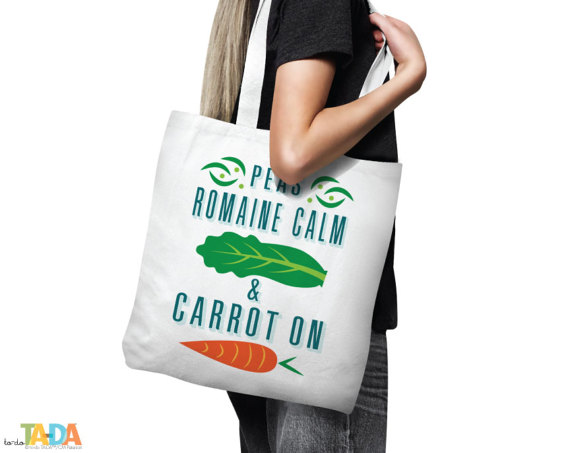 I Don/'t Carrot All Natural Canvas Funny Tote Bag