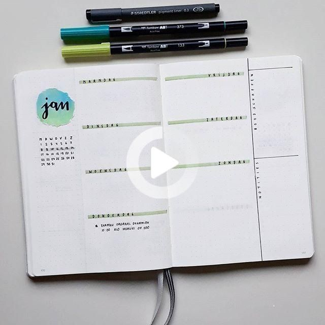 Bullet Journal Weekly Spread Inspiration Gallery
