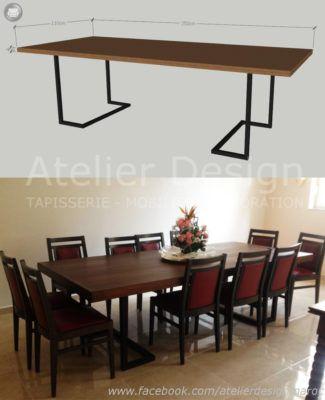 Salle à manger – design – chaises – table de repas – Atelier Design ...