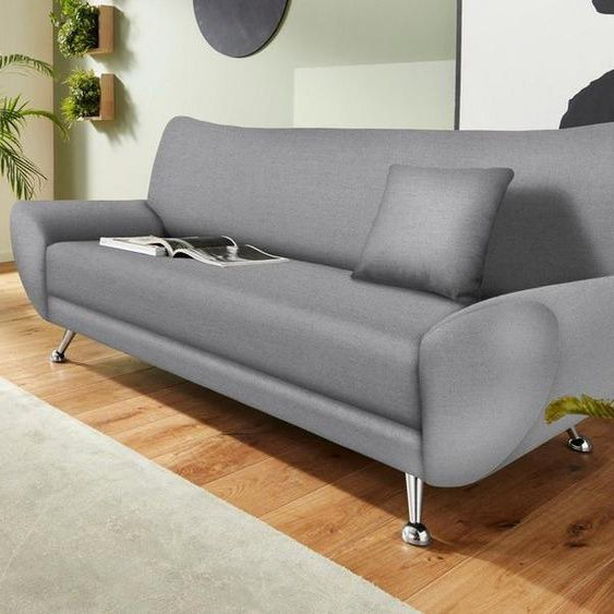 Inosign 3 Sitzer Saltare Grau Struktur Fein In 2020 3er Sofa Hellgrau Farbe Sofa