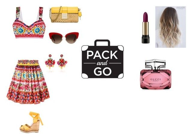 """""""best spring #15"""" by ec2049 ❤ liked on Polyvore featuring Dolce&Gabbana, Ranjana Khan, MICHAEL Michael Kors, Lancôme and Gucci"""