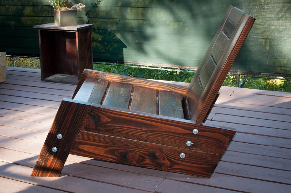 Sao Rafael Modern Vintage Reclaimed Wood Deck Chair Wood