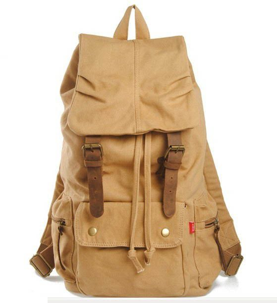 AUGUR Fashion Drawstring Canvas Backpack for Travel
