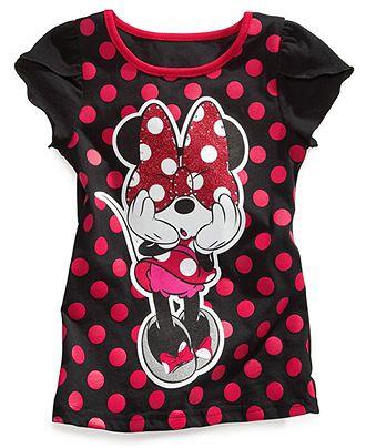 ce8c6e15f Disney Kids Shirt, Little Girls Minnie Mouse Tee - Kids Girls 7-16 - Macys