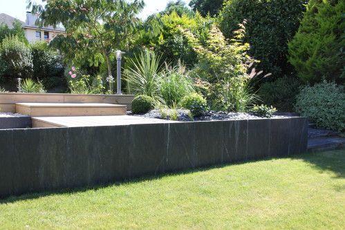 Maçonnerie paysagère  Mur de jardin en pierres Vannes - Baden