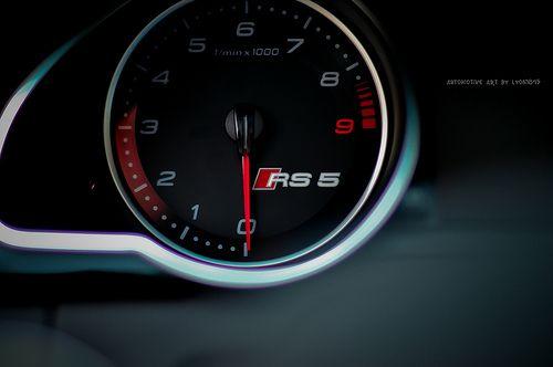 Audi RS5 Dashboard.