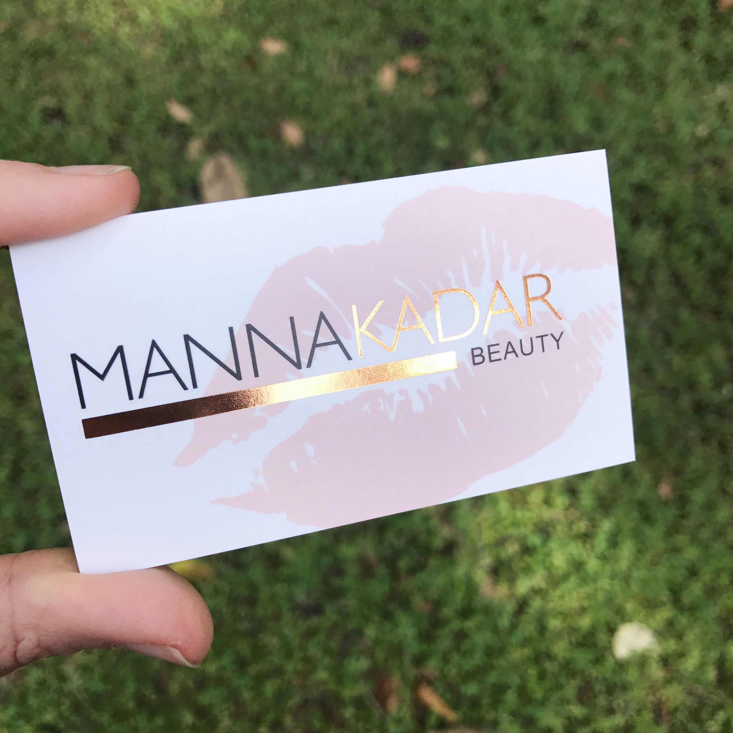 Rose Gold Foil Business Cards Beauty business cards