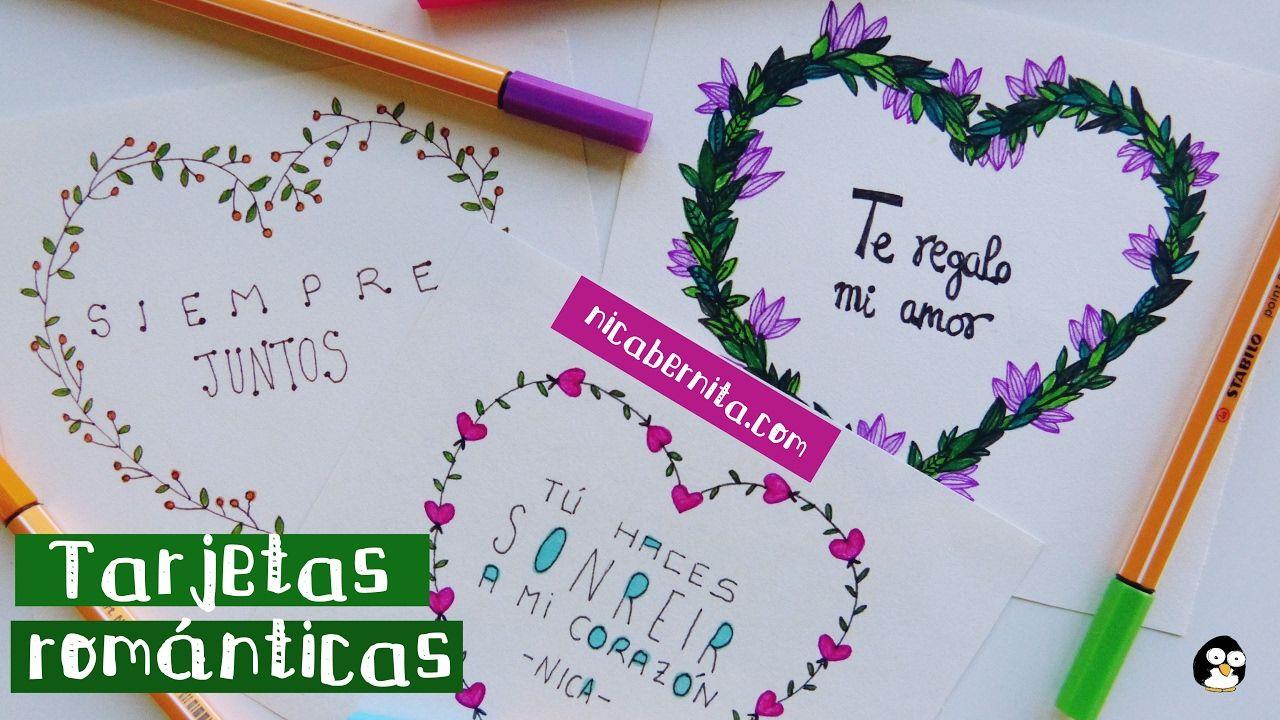 Tarjetas hechas a mano con frases de amor 2 ideas para - Manualidades a mano ...