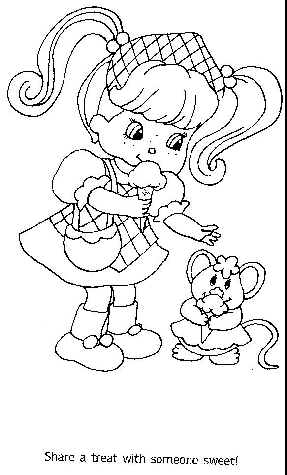 Pin de RamonaQ en Vintage Shortcake Coloring Books | Pinterest