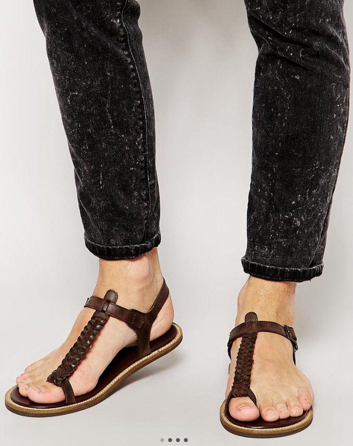 Mens leather sandals | Sandalias, Zapatos hombre, Sandalias