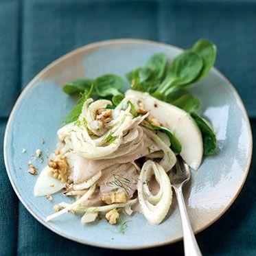 Fenchel-Birnen-Salat mit Ziegenfrischkäse-Dressing
