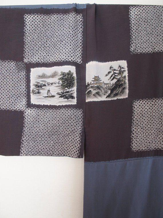 Japanese Nagajuban Kimono - tiger and dragon juban, no waste