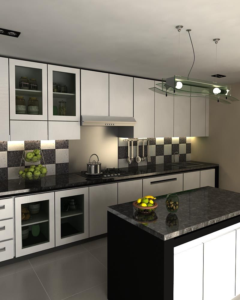 Minimalist Black And White Kitchen Set