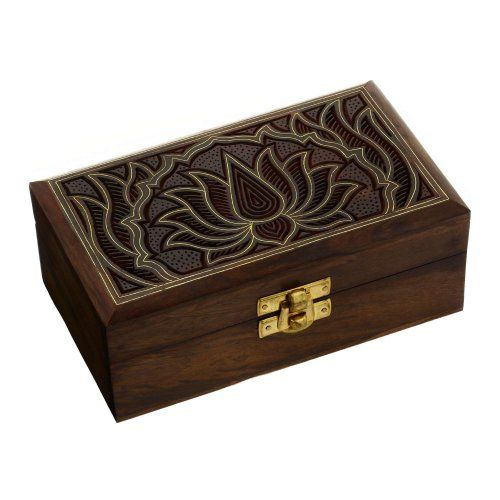 Amazoncom Indian Jewelry Box Wooden Carving Handcrafted Gifts