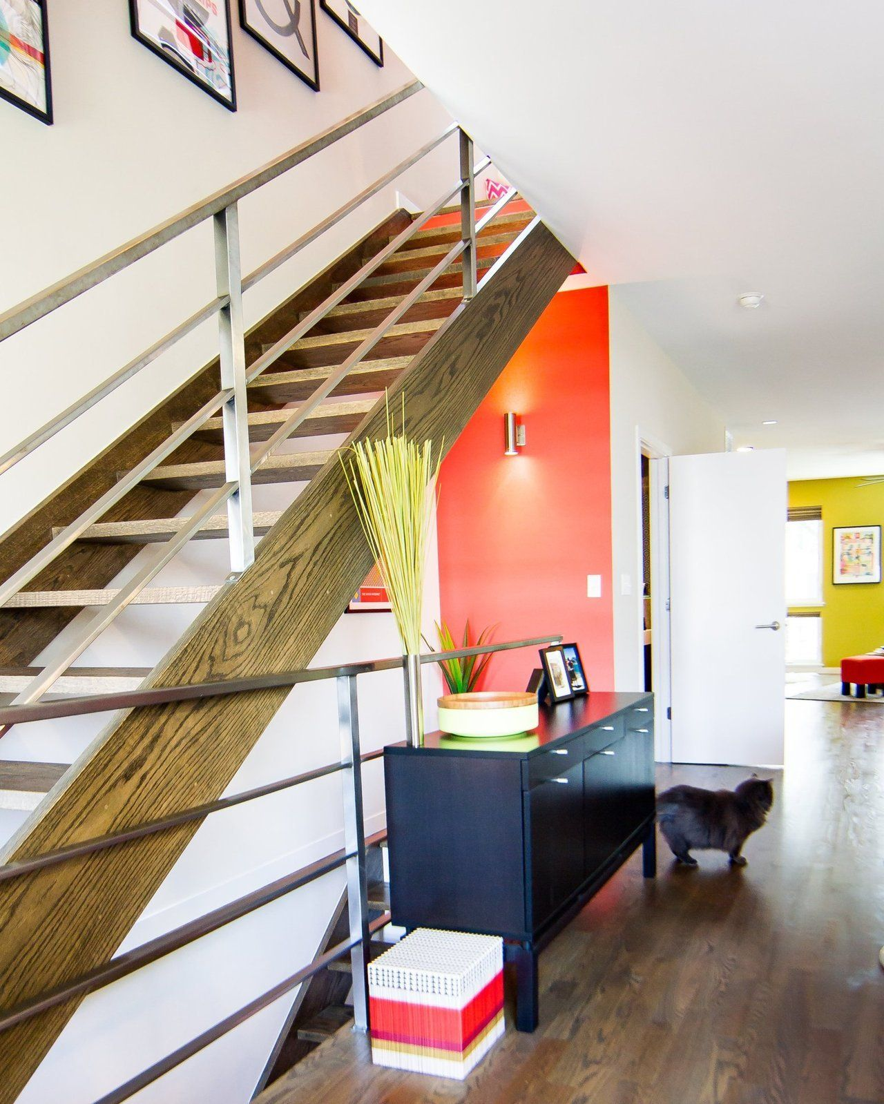 Staircase - Amy & Todd's Mod Chicago Home
