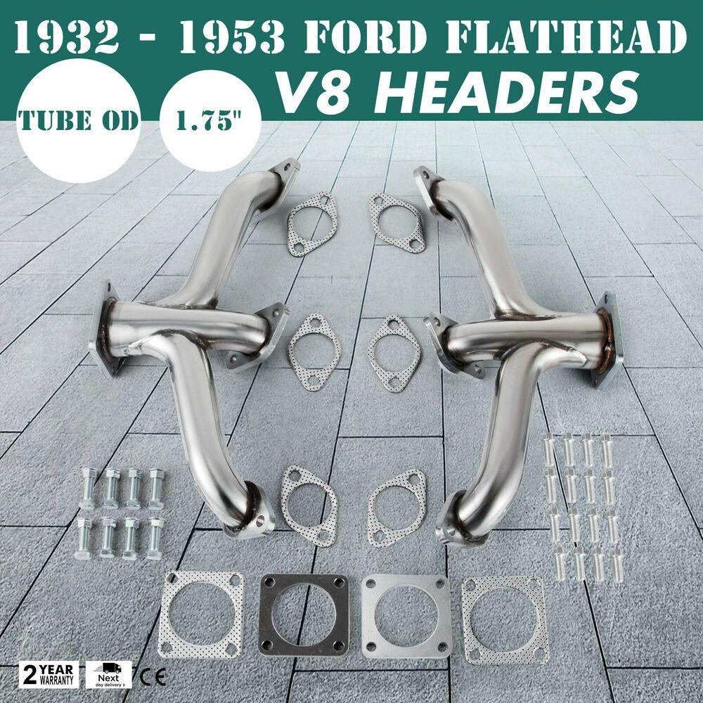 1932-1953 Ford Car Pickup Truck Flathead V8 Shorty Center Dump Exhaust Headers