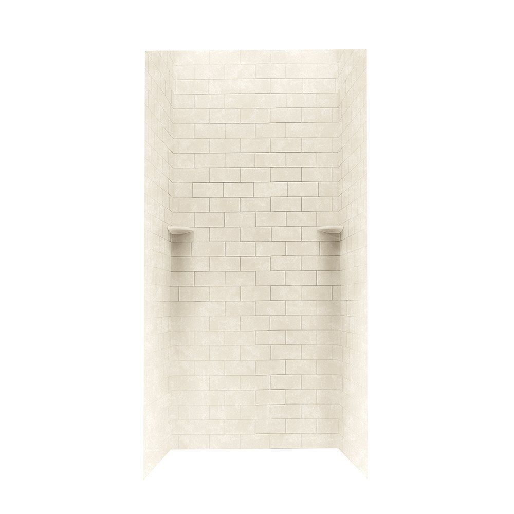 "Swanstone STMK72-3636 Shower Subway Tile Wall Kit 36"" x 36"" x 72"" - Solid Color - Swanstone Products - Buy and Large Inc."