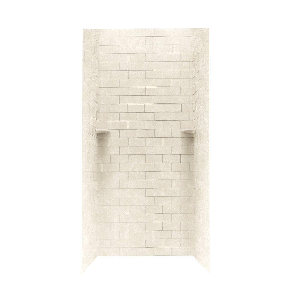 Swanstone Stmk72 3636 Shower Subway Tile Wall Kit 36 Quot X 36