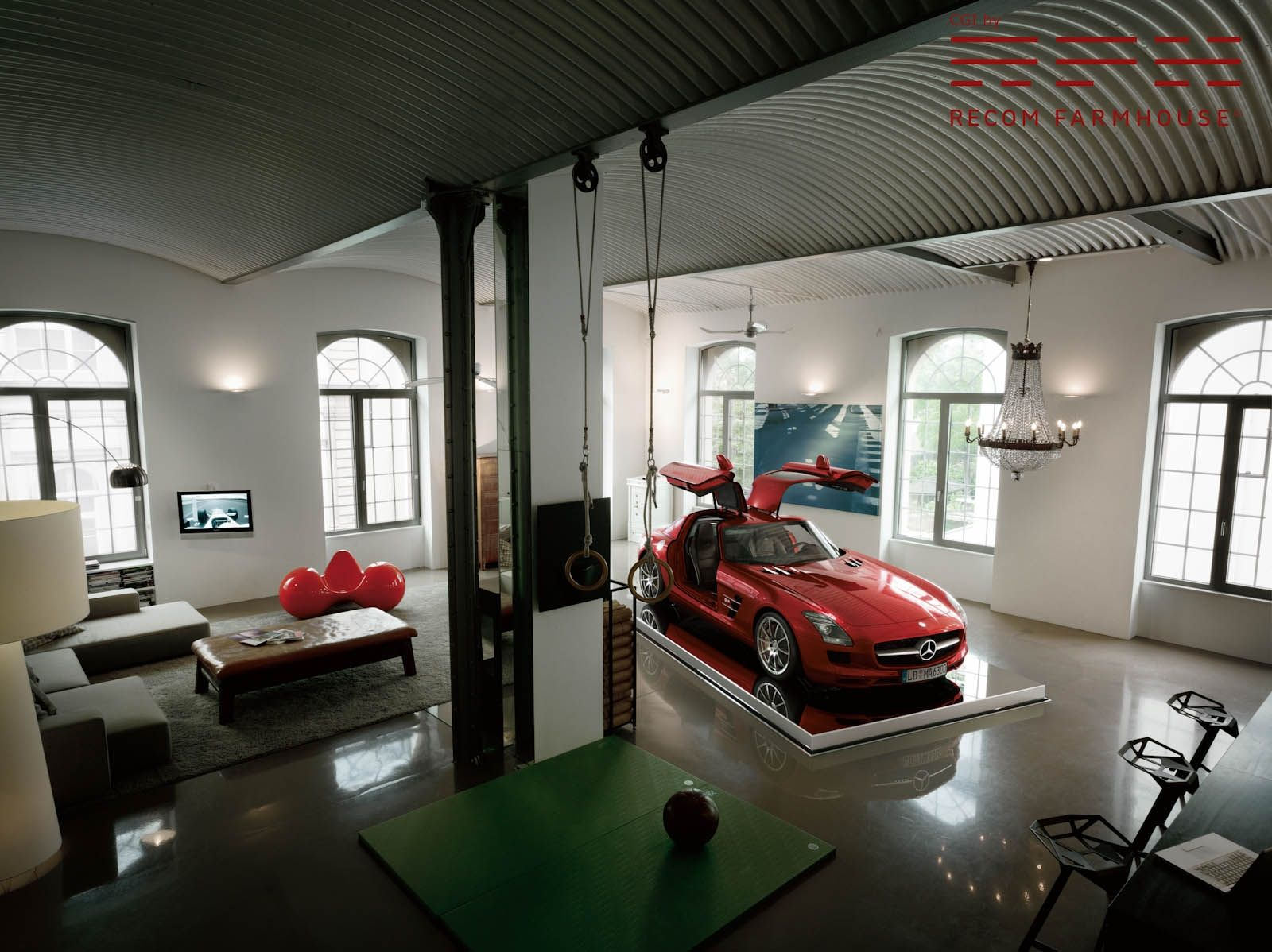 garage in living room cool garage http www recomfarmhouse the mopar 14423