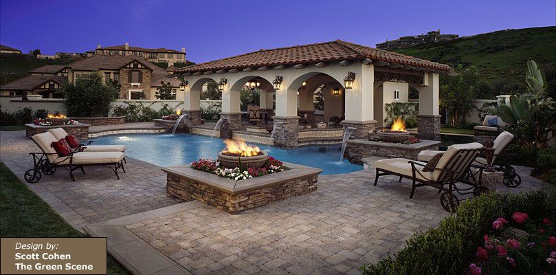 beautiful patio and pool deck design by