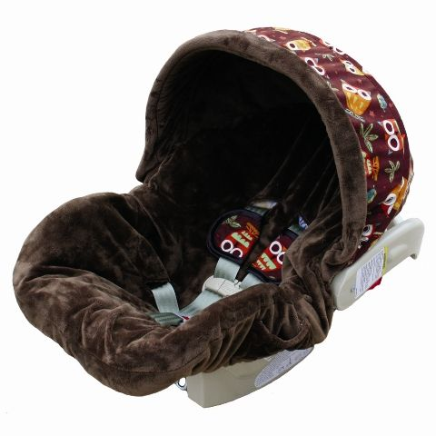 Cozy owl carrier! No need to buy a new car seat due to the girly print on Hayden's if we have a boy.