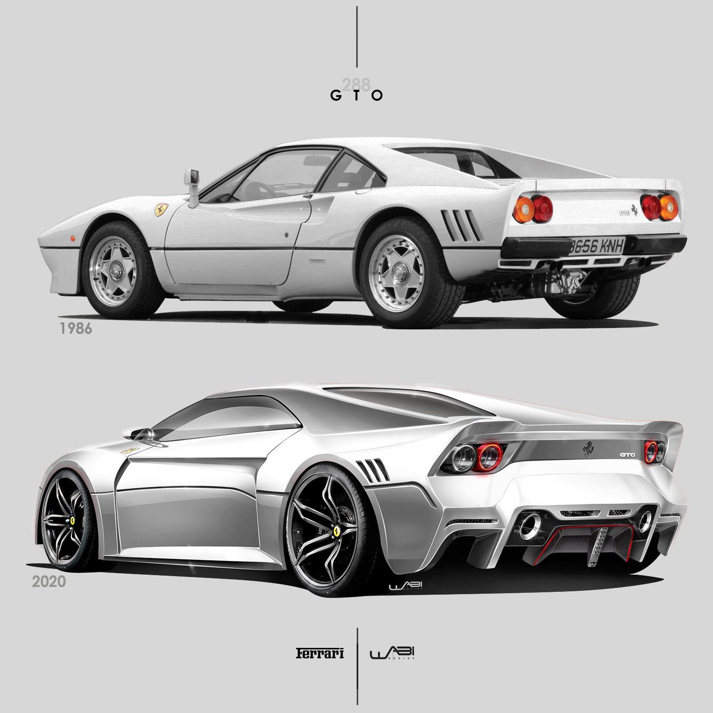 1986 Vs 2020 Ferrari 288 Gto Coches De Lujo Pinterest