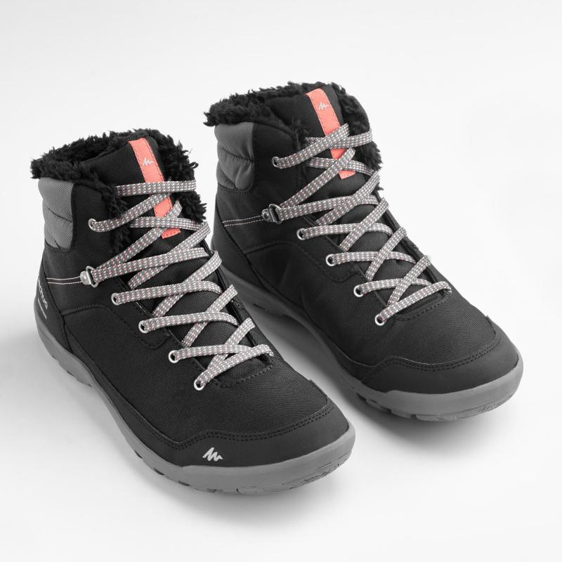 Buty Turystyczne Sh100 Warm Mid Damskie Hiking Boots Boots Warm Boots