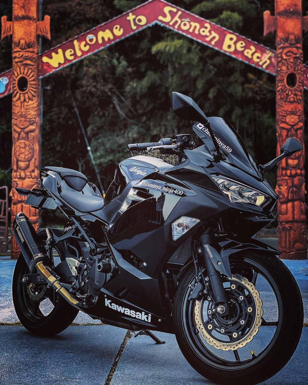 NINJA vinyl decal 1 set Kawasaki SPORT BIKE motor cycle crotchrocket