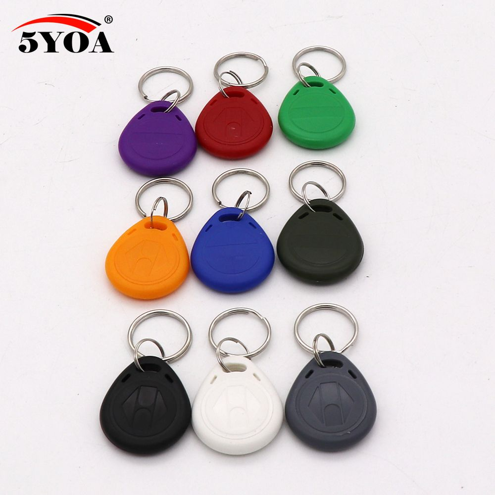 10pcs Em4305 T5577 Duplicator Copy 125khz Rfid Tag Access Control Porta Chave Card Sticker Key Fob Token Ring Proximity Price Access Control Rfid Tag Key Fob