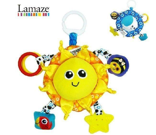 2013 Lamaze SUN  MOON Baby Activity Plush Toy with RATTLE / TEETHER / SQUEAKER $15.99