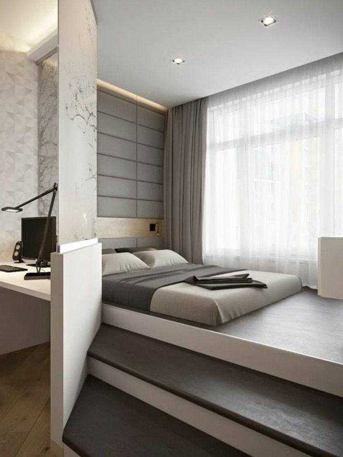 1 chambre a coucher design lit adulte design chambre parentale lit ...