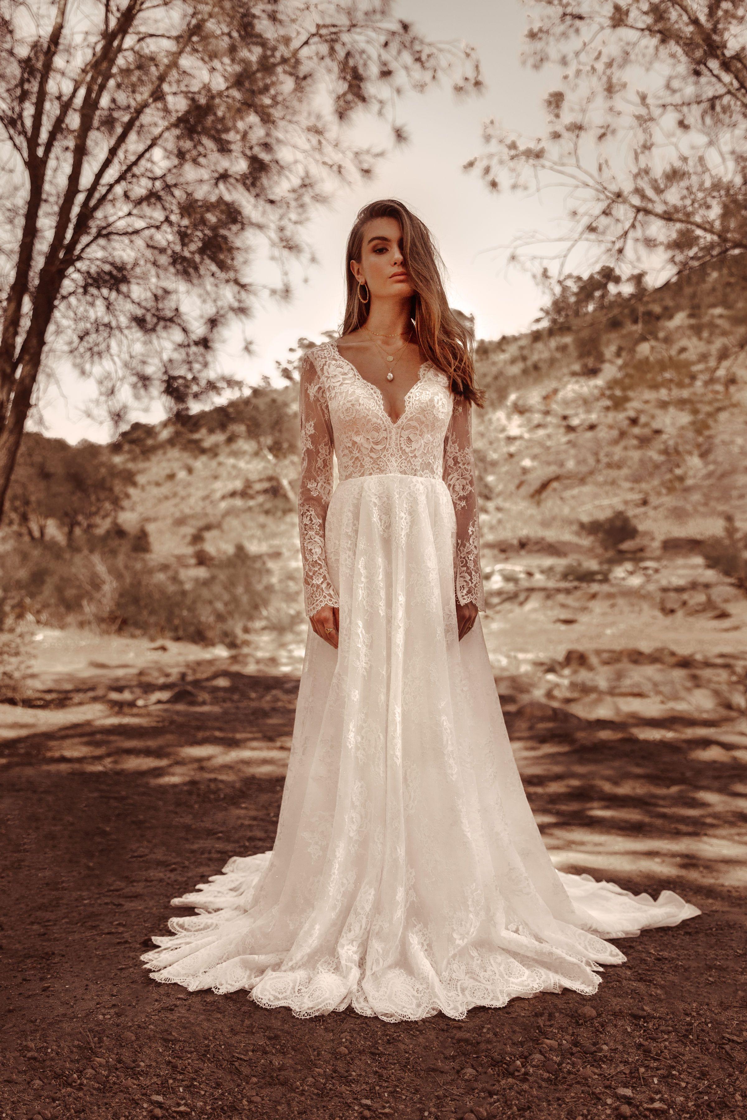 Beautiful BOHO wedding dress from White April Bridal