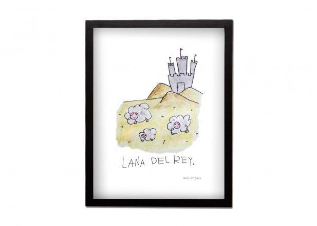 Cuadro Lana del Rey