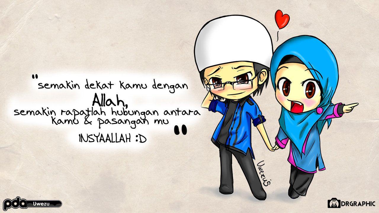 Foto kartun muslim couple top gambar