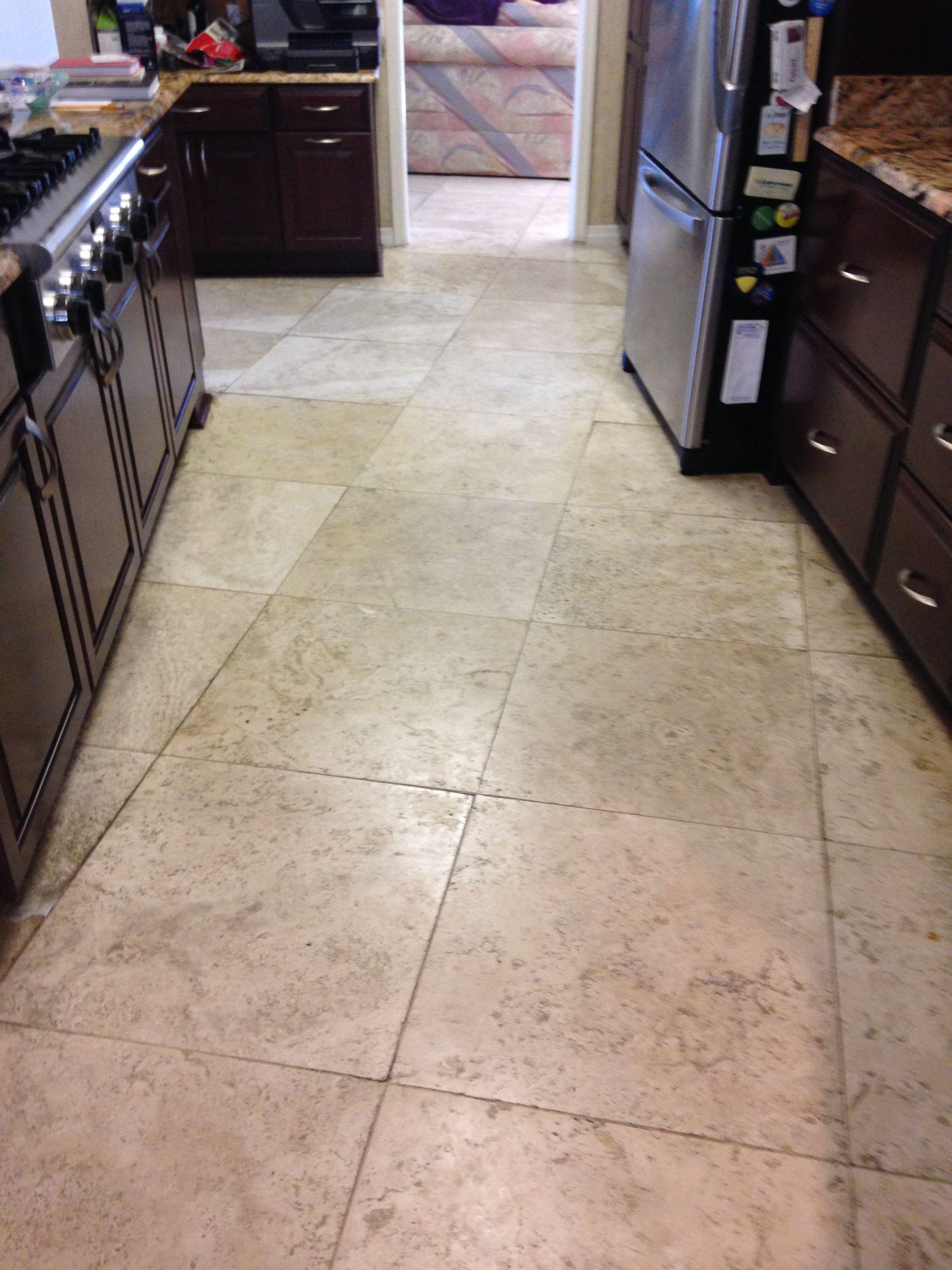clean tile floor treatment for bathroom floor | AFC Floor Care Travertine Restoration Project in ...