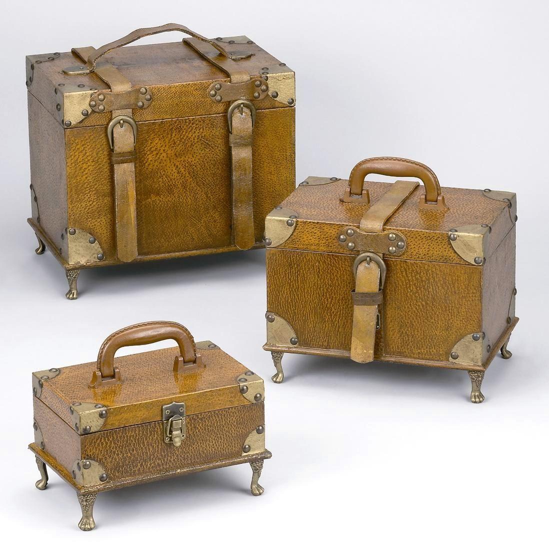 Decorative Luggage Box Vintage Suitcases & Trunks  Vintage Style Suitcase Trunk