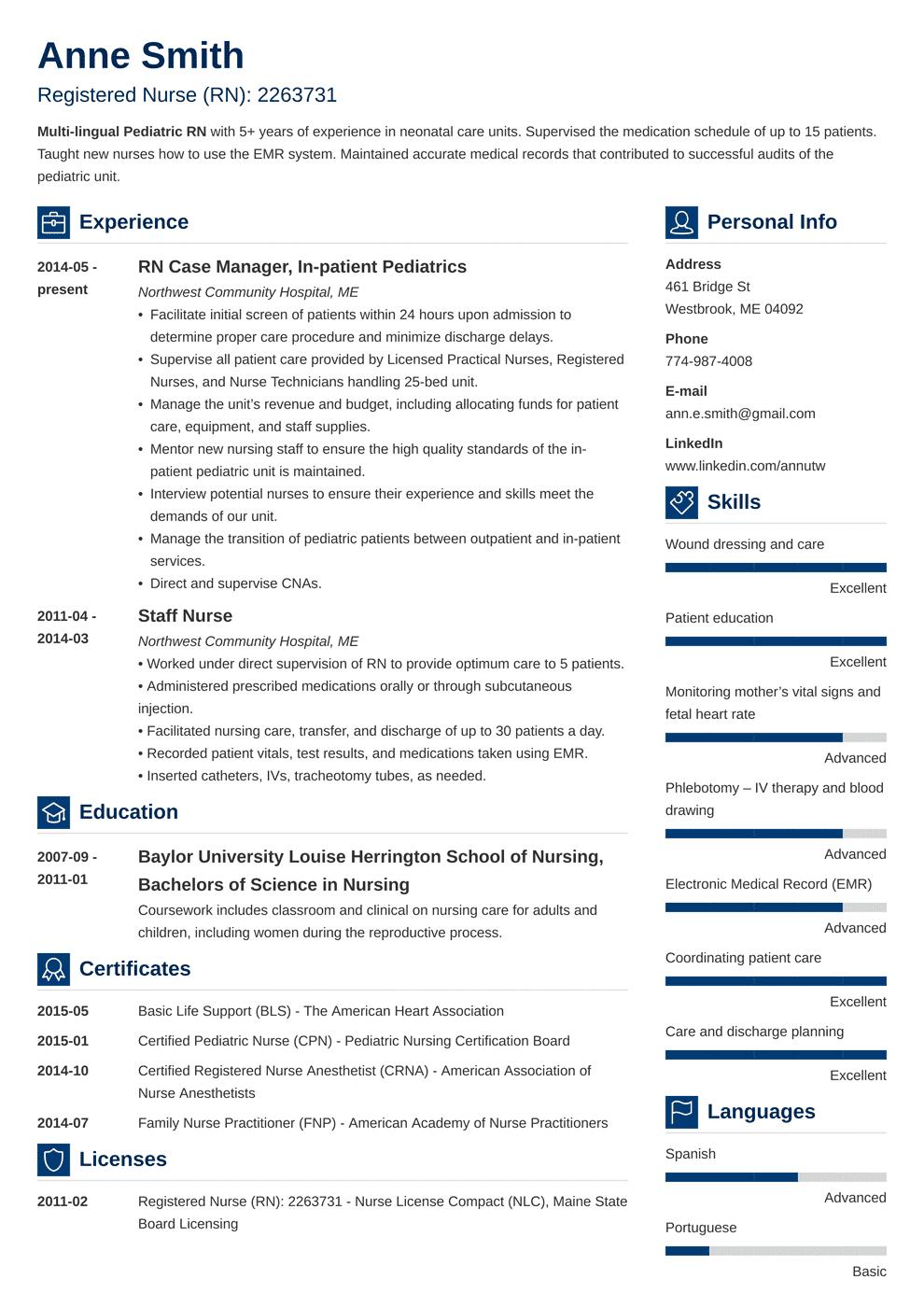 nursing resume template vibes in 2020 Nursing resume